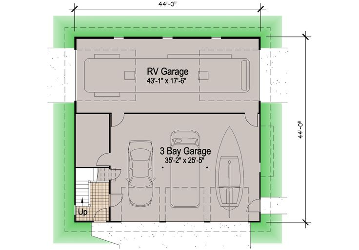Best 25 rv garage ideas on pinterest covered rv storage for Attached garage plans with living quarters