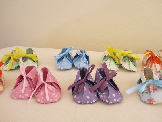 Origami Baby Booties by EachLittleFlower on Etsy, $3.75