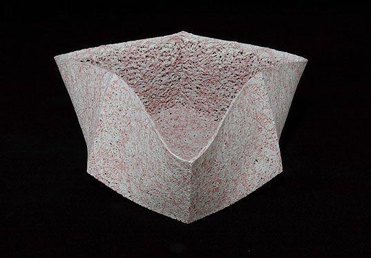 Nagae Shigekazu,  Vessel with Dripped Colored Glaze, 2002,  Slip cast porcelain