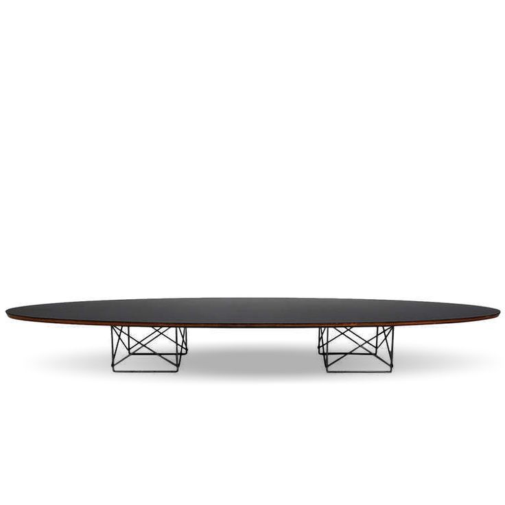 Low & long oval shape ETR coffee table designed by C. Ermes, L 225 - W at My Italian Living Ltd