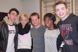 """Olympic Gold Medalist Gabrielle Douglas """"Kickin' It"""" With Dylan Riley Snyder, Olivia Holt, Jason Earles, And Mateo Arias 1/18/13 www.alexisjoyvipaccess.com // @alexisjoyvipacc on twitter // alexisjoyvipaccess on youtube and FB"""