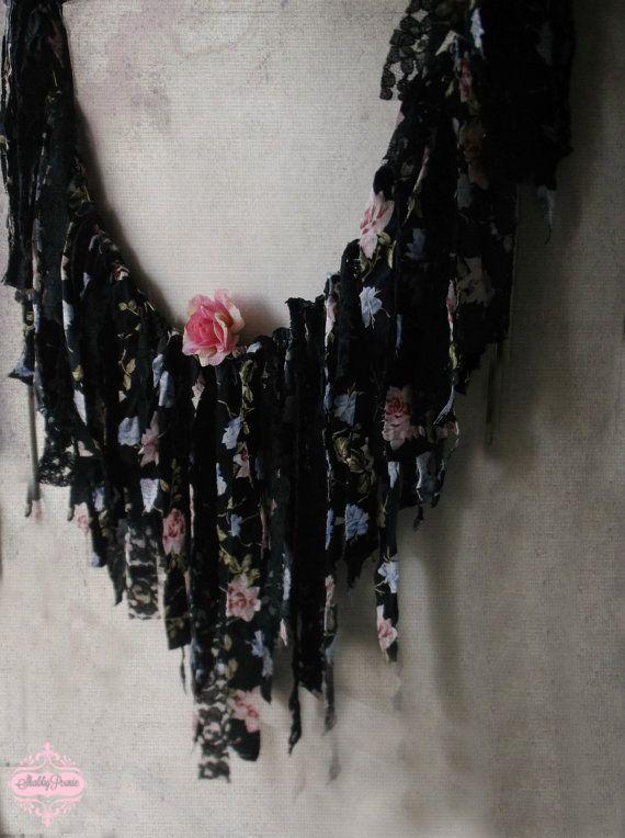 Bohemian Gypsy Lace Garland  Shabby Boho Chic by ShabbyPeonie