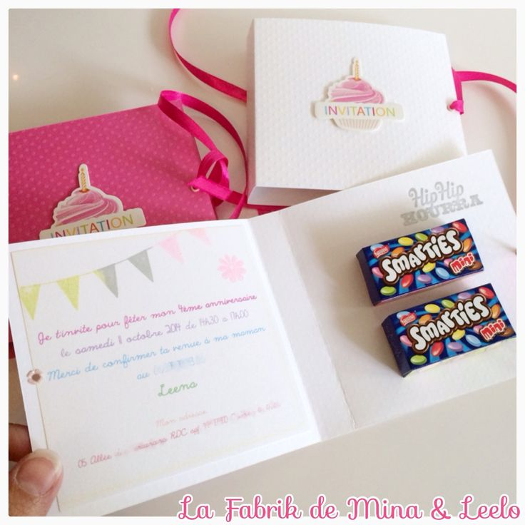 Jolie carte d 39 invitation anniversaire enfant enti rement faite la main - Videos faites a la maison ...