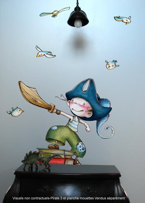 PIRATE 3 / Sticker mural / Wall stickers / Design Emmanuelle Colin