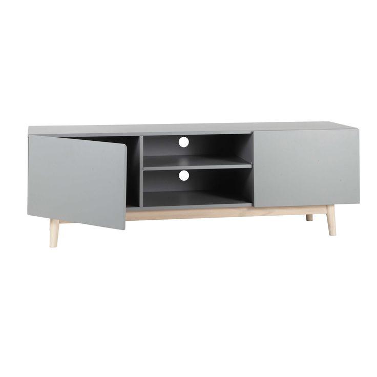 Grijs houten vintage tvmeubel B 150 cm Artic  Maisons du Monde  Dressoirs  -> Meuble Tv Artic Maison Du Monde