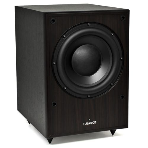 Image of Fluance DB150-DW 10 Inch 150 Watt Low Frequency Powered Subwoofer-Dark Walnut