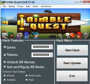 Nimble Quest hacks