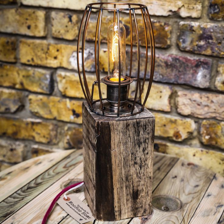 A new unique tall cage lamp - pretty. It's rustic and warming, perfect a modern loft apartment or country house chic, it'll fit just about anywhere 😍