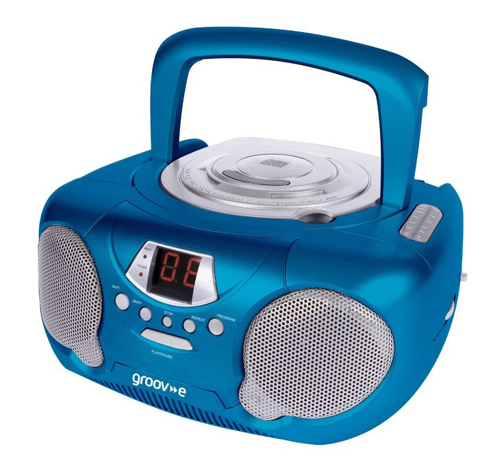 Groov-e GVPS713BE Boombox Portable CD Player with Radio - Blue: Amazon.co.uk: Hi-Fi & Speakers