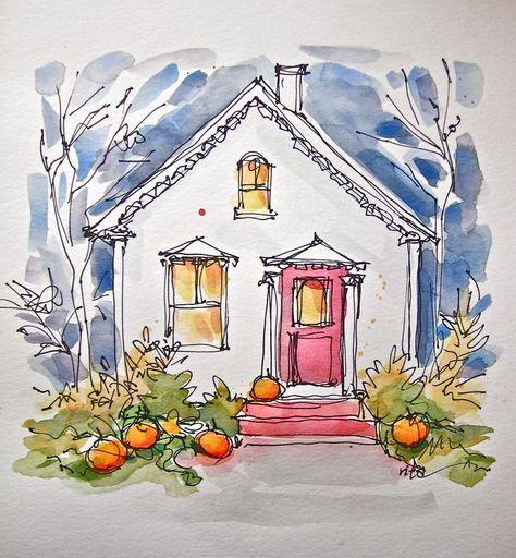 Sketchbook Wandering : Halloween Card, The (Happy) Distraction