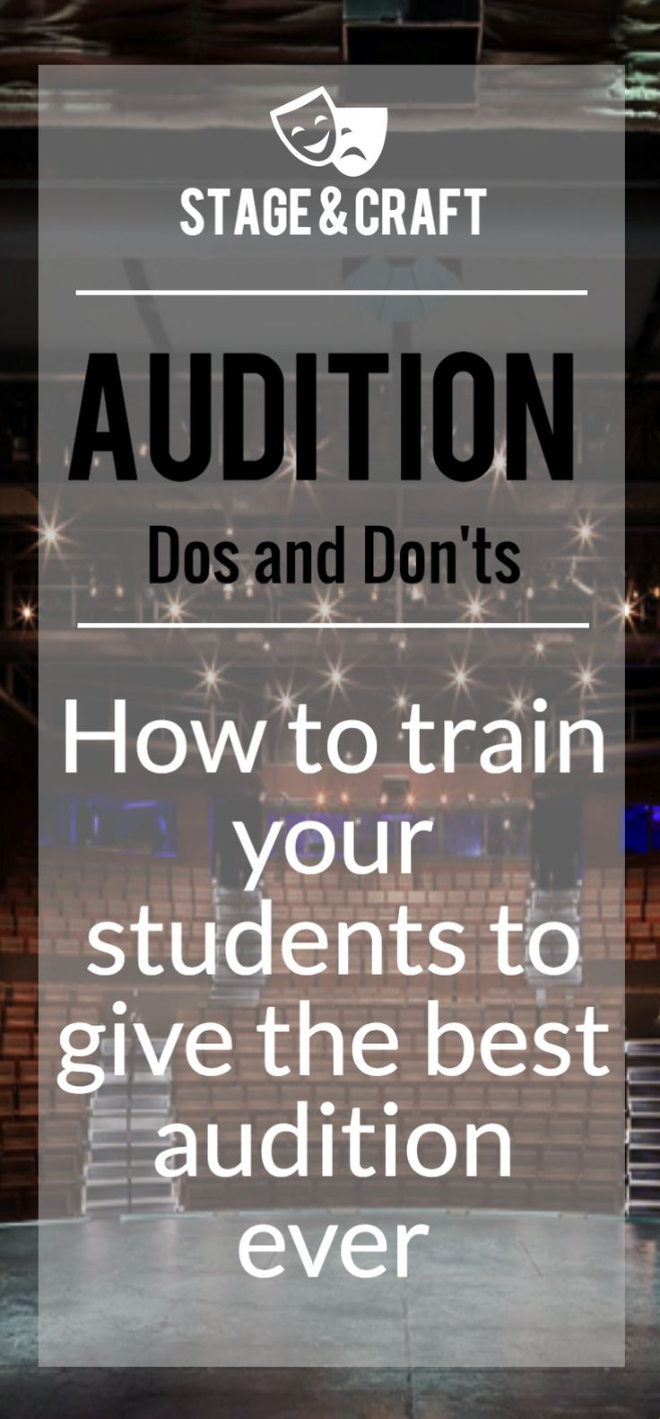 These are the best tips to give to your actors before they prepare for an audition. Stage & Craft