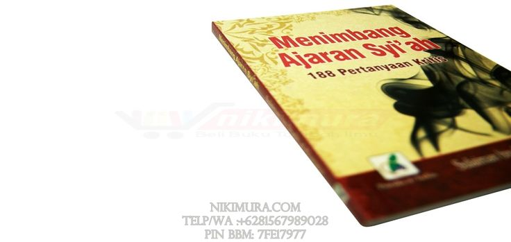 Buku Islam Menimbang Ajaran Syiah - Buku ini berisikan tentang 188 pertanyaan kritis tentang syiah, dimulai dari seputar ajaran syiah, ahli bait, imam mahdi, kitab-kitab suci syiah, alquran menurut versi syiah, dan masih banyak lagi yang di bahas di buku ini.   Rp. 17.000,-  Hubungi: +6281567989028  Invite: BB: 7FE18977 email: store@nikimura.com  #bukuislam #tokomuslim #tokobukuislam #readystock #tokobukuonline #bestseller #Yogyakarta #syiah