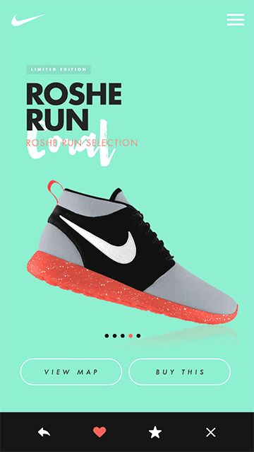 Nike - Roshe Run App on Behance