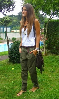 military green casual & simple