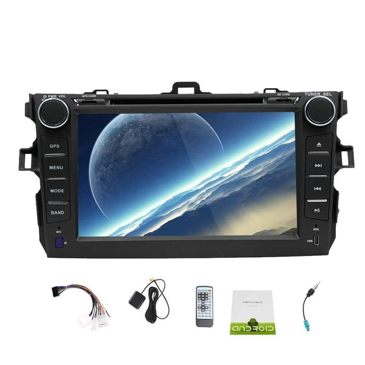Android 5.1 For Toyota Corolla Car Stereo Radio In Dash Double Din GPS Navigation System Bluetooth headunit WiFi Mirror-Link