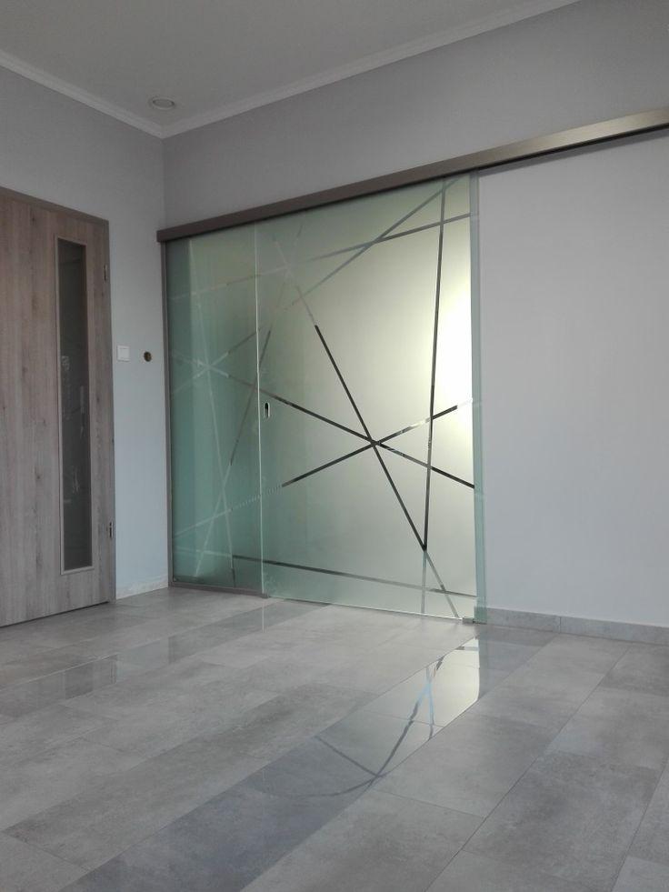 Glass sliding door