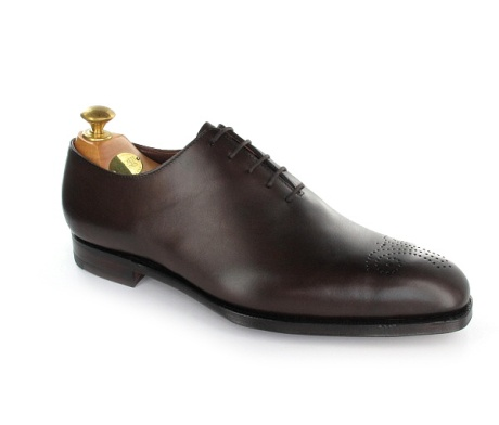 Crockett & Jones - Weymouth, a wholecut shoe with a lightly punched medallion design on the toe. Made from the finest calf leather and bark tanned single leather soles. From the Hand Grade collection.
