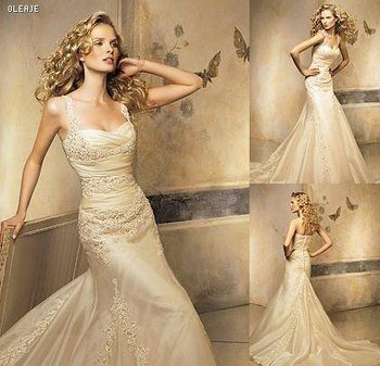 gold wedding gown! love