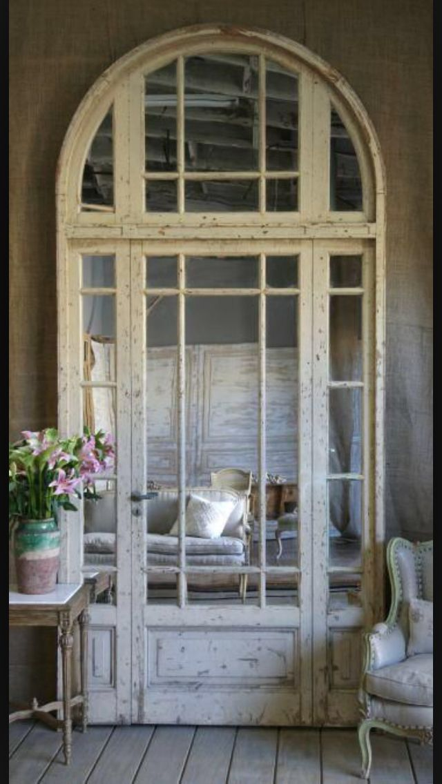 Curved French door