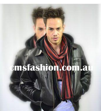 Bomber Style Leather Jacket #leather #mensleather #mensleatherjackets #leatherjackets #jackets #accessories #mensscarf #scarf #fashion #mensfashion #casuallook #casualstyle #casualjacket www.cmsfashion.com.au