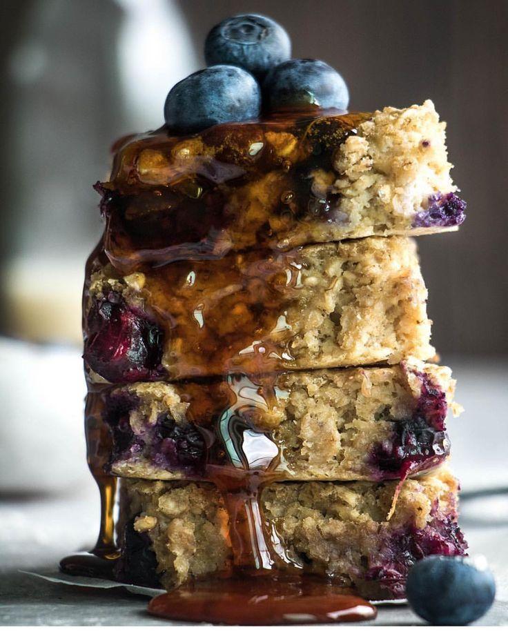Blueberry porridge bars @charleyshealth