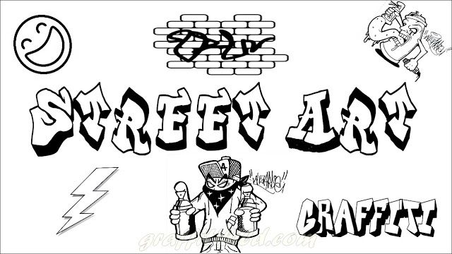 Graffiti Ausmalbilder Street Art Ausmalbilder Zum Ausdrucken Ausmalbilder Graffiti
