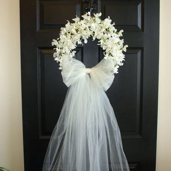 guirnaldas de verano, decoración de bodas flores guirnaldas durante todo el año, guirnalda, guirnalda elegante, rosas de David Austin, puerta, país francés, al aire libre y jardín GUIRNALDA DE LA ORQUÍDEA DEL DENDROBIUM Este listado es para corona de hermosas orquídeas falso blanco/marfil. La corona perfecta, puerta o pared decoración, decoraciones de la puerta de la boda. También un gran regalo para primera comunión, boda, cumpleaños, ducha... Esta corona está hecha con seda artificiales...