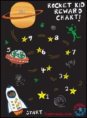 Reward Charts - 3 to 5 year olds - Rocket Kid Supernanny Superstars Reward Chart