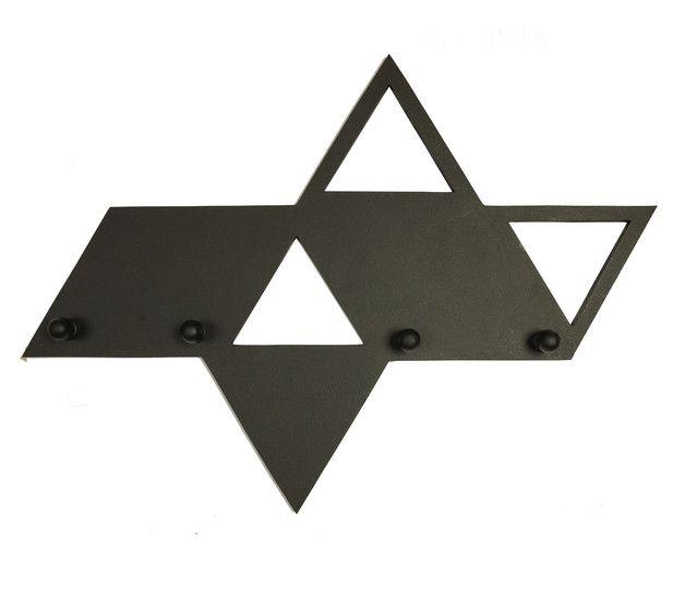 Wieszak ścienny w kształcie figury geometrycznej. Sprawdzi się w nowoczesnym…