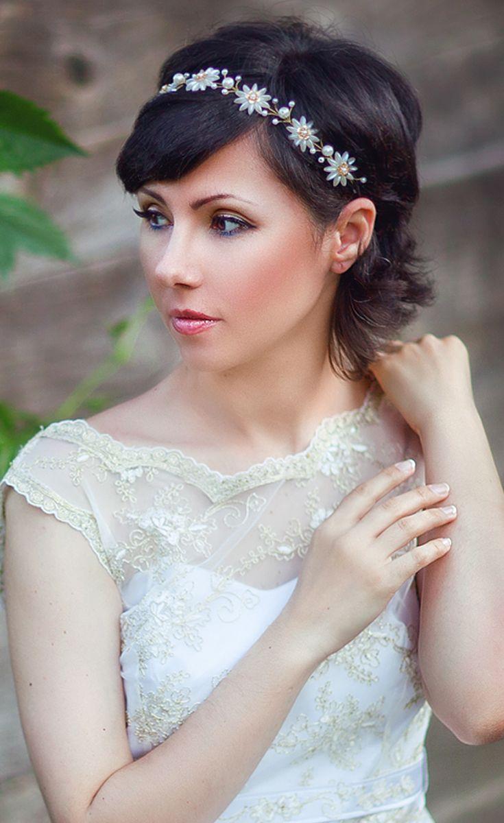 Tiaras wedding side tiara bridal necklace wedding bracelet tiara - Pearl Tiara Wedding Headbands Wedding Tiaras