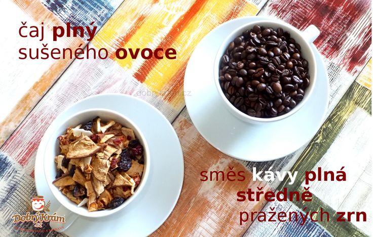 Čaj ze sušeného ovoce a káva od Petra Frolíka