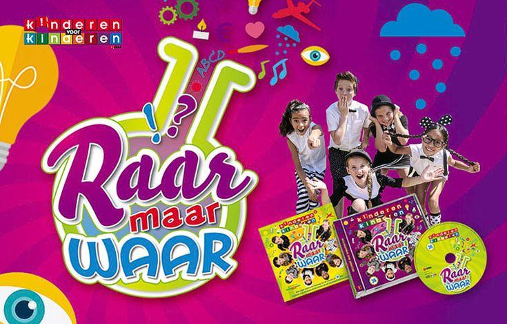 """De titel van de nieuwe Kinderen voor Kinderen hit én het thema van de Kinderboekenweek. Een half jaar geleden zaten we al rond de tafel bij de VARA om te brainstormen over het nieuwe ALBUM """"Raar maar Waar"""". Een geweldig leuk thema wat alles te maken heeft met natuur, wetenschap en techniek. Het resultaat van deze campagne (o.a. logo, singel, CD album, DVD) is weer geweldig leuk geworden Zie http://kvk.vara.nl/pagina/raar-maar-waar"""