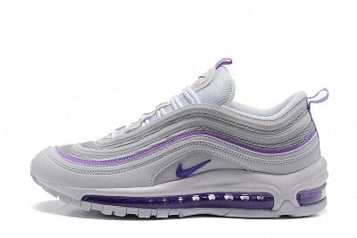 WMNS Nike Air Max 97 White Hyper Grape Club Purple 313054 160 ... 6ce98f9c39305