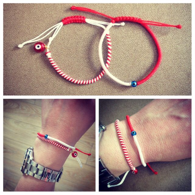 Evil eye March bracelets. These and many more on www.abadianakis.gr