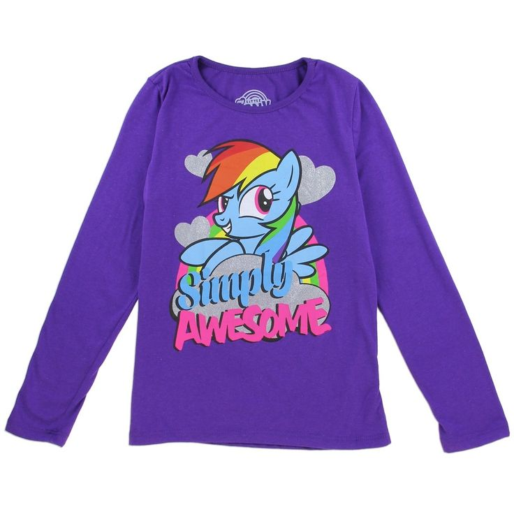 Sizes S M L XL (7-16) Made From 60% Cotton 40% Polyester Label Hasbro My Little Pony Officially Licensed Hasbro My Little Pony Girls Clothes