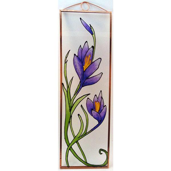 Kikerics Grafika: Navratil Zsuzsa üvegre kivitelezte: Kőrösi Andrea Mérete: 7,5 cm x 23,5 cm