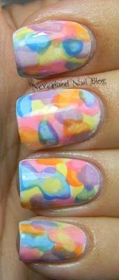 Watercolor nails! blow dryer, DIY