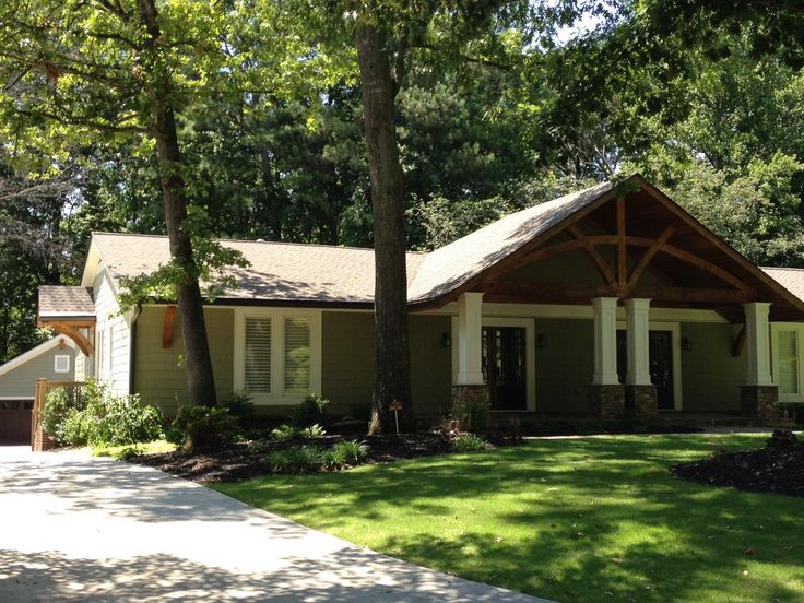 Best 25 brick ranch houses ideas on pinterest ranch for 50s ranch exterior remodel