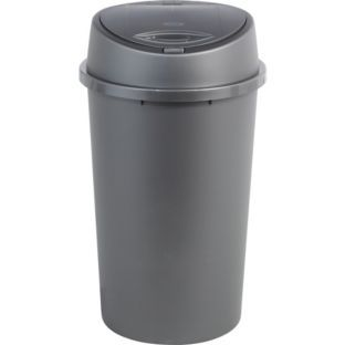 £9.99 Buy Living 45 Litre Touch Top Kitchen Bin - Silver at Argos.co.uk - Your Online Shop for Kitchen bins.