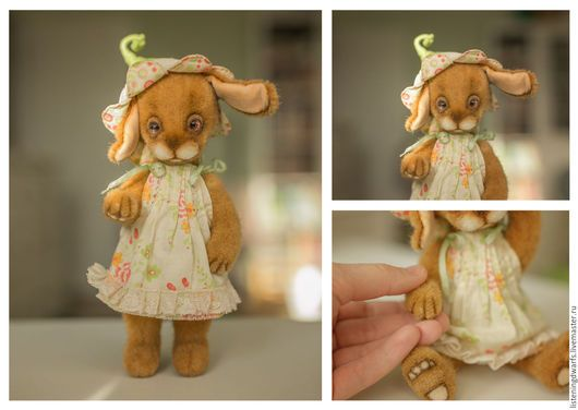 Teddy Bears handmade. Teddy Bunny Daisy, designer toy, plush. Aleksandra Kulikova (listeningdwarfs). Online shopping on My Livemaster. #teddy #bear #teddybear #handmade #artdoll #ooakteddy #toy #bunny #teddybunny #rabbit #teddyrabbit #motherday