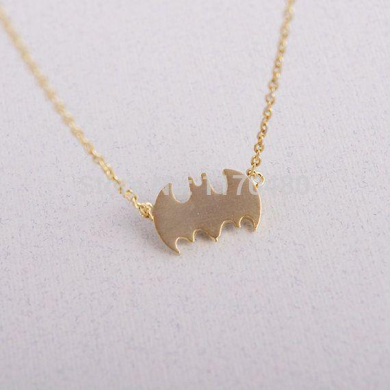 10 шт. - N046 мода немного бэтмен бат герой знак ожерелье длинная цепь ну вечеринку популярны ювелирные изделия для женщин подарки оптовая продажа