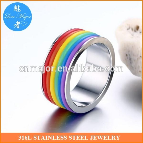 Check out this product on Alibaba.com App:9mm gay pride jewelry stainless steel rainbow strips ring https://m.alibaba.com/bUr2Mv