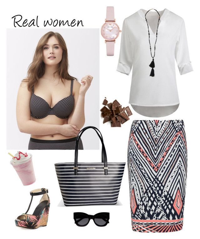 """""""Healthy is the new sexy!"""" by raffaellapapami on Polyvore featuring Cacique, Anna Scholz, Avenue, Jimmy Choo, Karen Walker, Emporio Armani and Isabel Marant"""