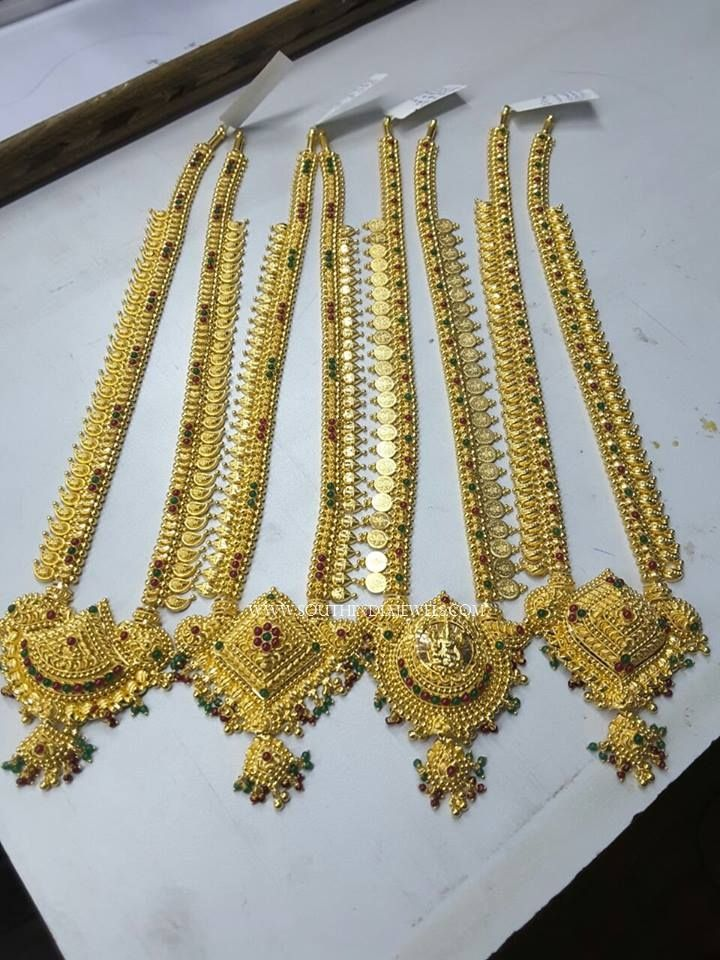 Latest Gold Haram Designs 2017, Latest Gold Long Necklace Designs 2017, Gold Long Necklace Models 2017.