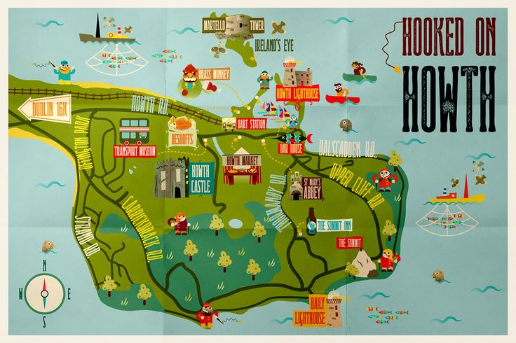 An Illustrated Guide to Howth | Visit Dublin | Visit Dublin: fishing village, market with irish crafts, Howth Castle