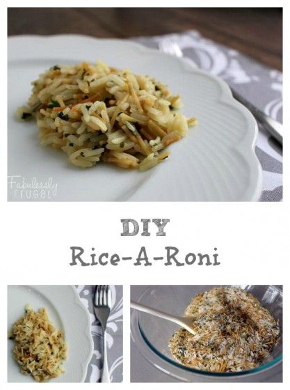 Genius! Make your own Rice-A-Roni mix for an easy, healthier side dish.