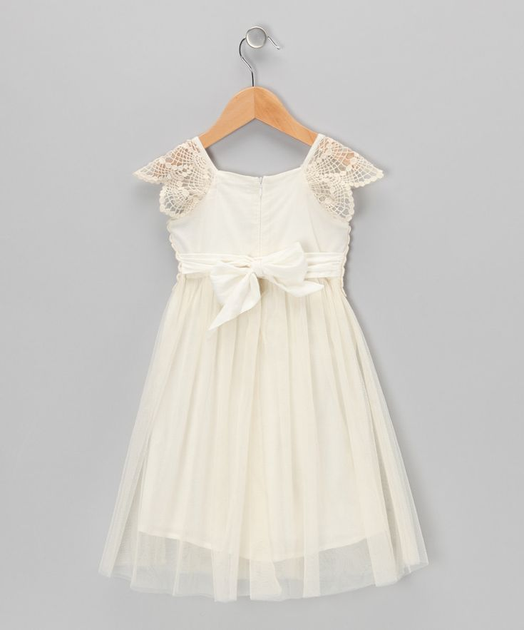 cream crochet tulle dress infant toddler girls i would put a pastel colours