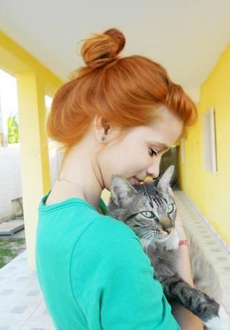 ruiva e gato - ginger cat