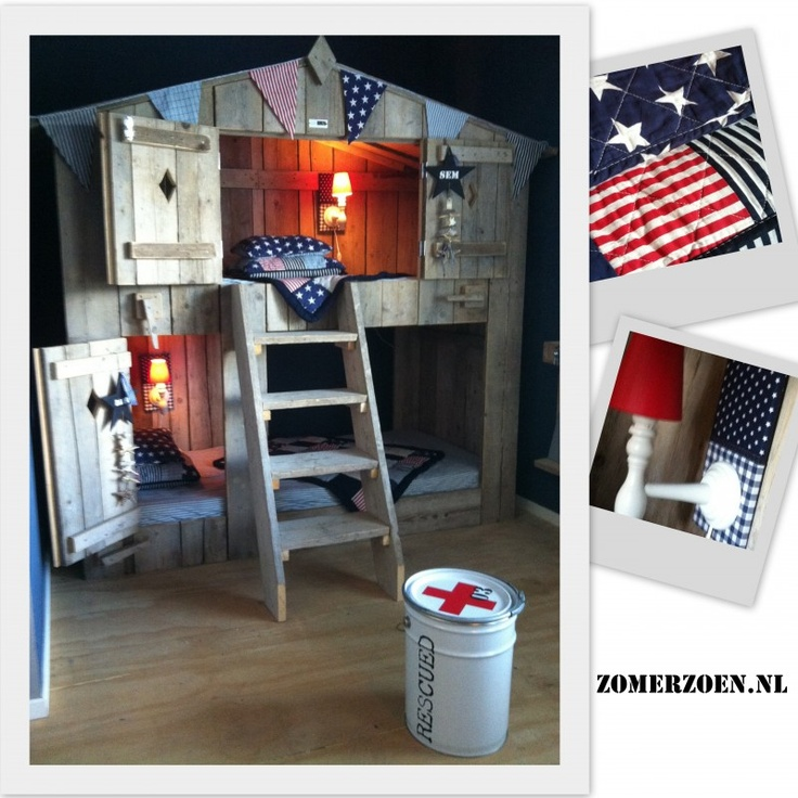 awesome bunk bed idea....