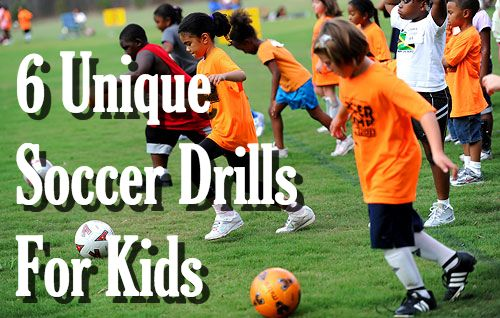 6 Unique Soccer Drills For Kids - Improve your soccer skills and confidence with this complete list of soccer drills. Read the post here - http://www.progressivesoccertraining.com/6-soccer-drills-for-kids/